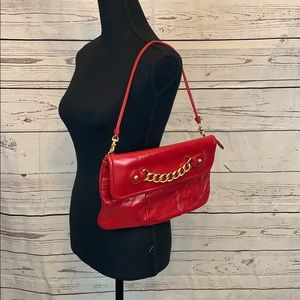 Cynthia Rowley Martha Patent Leather Shoulder Bag!